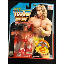 "OFFICIAL WWF HASBRO MOC KERRY VON ERICH ""TEXAS TORNADO"" (FRENCH CARD)"