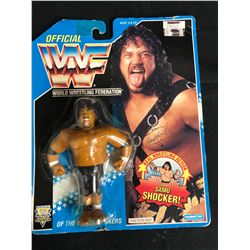 "OFFICIAL WWF HASBRO MOC ""THE HEADSHRINKERS"" SAMU"
