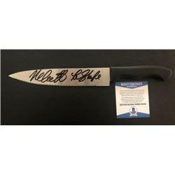"Nick Castle Halloween Autographed Kitchen Knife With ""The Shape"" Inscription (BECKETT COA)"