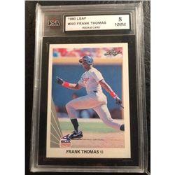 1990 LEAF #300 FRANK THOMAS Rookie Card (KSAS 8 NMM)