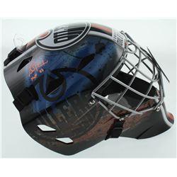 "Grant Fuhr Signed Oilers Full-Size Goalie Mask Inscribed ""HOF 03"" (Schwartz Sports COA)"