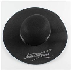 The Undertaker Signed Wide Brim Open Crown Hat (JSA COA)
