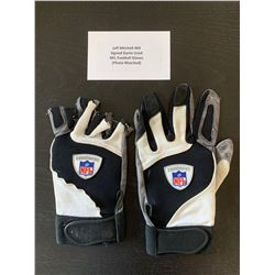 JEFF MITCHELL #60 SIGNED GAME USED NFL FOOTBALL GLOVES