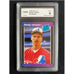 1989 DONRUSS #42 RANDY JOHNSON ROOKIE (GMA NM-MT 8)