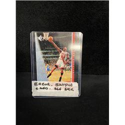 "SP AUTHENTIC MICHAEL JORDAN ""ERROR"" BASKETBALL SAMPLE CARD (SEE BACK OF CARD)"