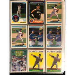 NOLAN RYAN BASEBALL CARD LOT