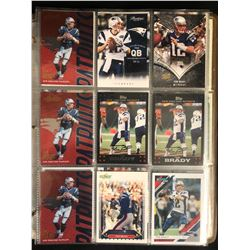 TOM BRADY FOOTBALL CARD LOT