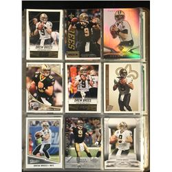DREW BREES FOOTBALL CARD LOT