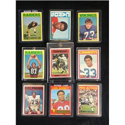 VINTAGE FOOTBALL ROOKIE CARD LOT