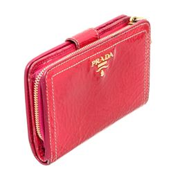 Prada Pink Patent Leather Tab Wallet