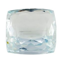 8.82 ct.Natural Square Cushion Cut Aquamarine