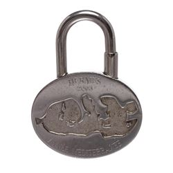 Hermes Silver Palladium Annee Mediterranee Lock Charm