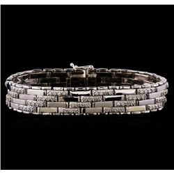 3.52 ctw Diamond Bracelet - 14KT White Gold
