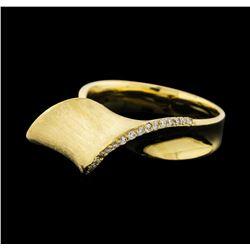0.15 ctw Diamond Ring - 14KT Yellow Gold