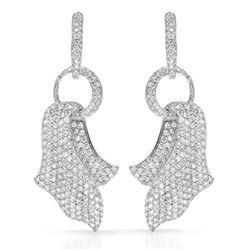 18k White Gold 6.06CTW Diamond Earrings, (SI1-SI2/G-H)