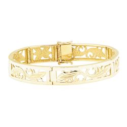 Hawaiian Heirloom Bracelet - 14KT Yellow Gold