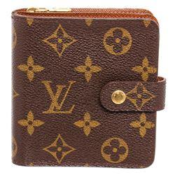 Louis Vuitton Monogram Compact Porte Papier Zippe Wallet
