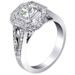 18k White Gold 1.32CTW Diamond Ring, (VS1-VS2/G-H)