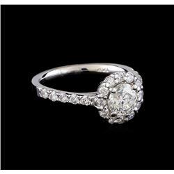 1.60 ctw Diamond Ring - 14KT White Gold