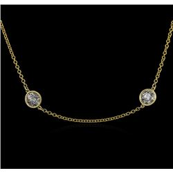 14KT Yellow Gold 4.87 ctw Diamond Necklace