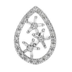 14k White Gold 0.33CTW Diamond Pendant, (SI3/G-H)