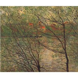 Claude Monet - His Bank, the Ile de la Grande Jatte