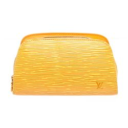 Louis Vuitton Yellow Epi Leather Dauphine PM Cosmetic Case