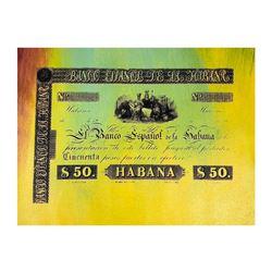 Banco Espanol de la Habana by Steve Kaufman (1960-2010)