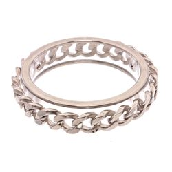Chanel Silver CC Chain Clear Lucite Bangle Bracelet