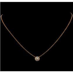 0.88 ctw Diamond Necklace - 18KT Rose Gold