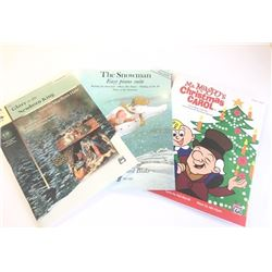 Three Piano and Vocal Christmas Song Books