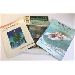 Four Piano Christmas Song Books