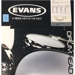 "Evans Black Chrome 6"" Drumhead"