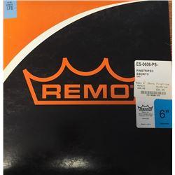 "Remo Pinstripe Ebony 6"""