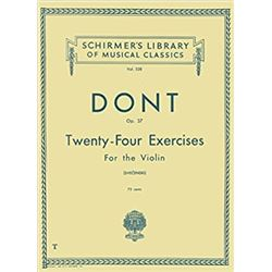 Schirmer's Library of Musical Classics Twenty Four Exercises