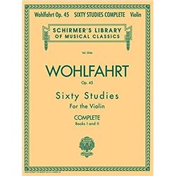 Schirmer's Library of Musical Classics Sixty Studies for Violin