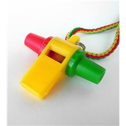 Acme Multi-Color Mardi Gras Samba Carnival Whistle 475