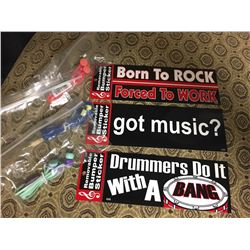 Three  Bumper Stickers and Three Ear Pods