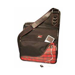 Gator Cases GLCLARMSGPLD Gator Clarinet Messenger Bag - Plaid