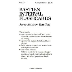 Bastien Interval Flashcards contains 96 cards