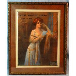 1918 Buford Mercantile Calendar, Virginia City and Ruby, MT, framed,