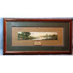 1911 Buford Mercantile Calendar, Virginia City, MT, framed