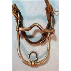 Crockett grazing bit w/headstall, single tie-off to lead rope