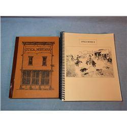 Utica, Montana books, 1968 and 1986, soft covers