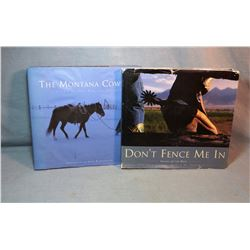 2 books by Stoecklein, David, The Montana Cowboy,  1998, dj and Don't Fence Me In, 1996, signeds