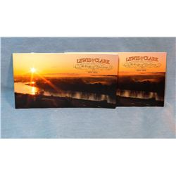 2 Lewis & Clark Corp of Discovery postage stamp booklets, new