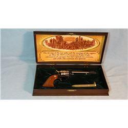 "Colt SAA Frontier  Scout, .22 LR, 1869-1969 Golden Spike, 6"" bbl, cased, nickel cylinder, sn: 10592G"