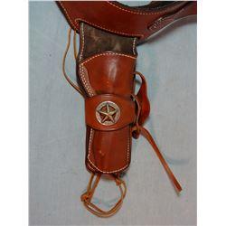 Nevada Gun Leather SAA holster w/cartridge belt, new