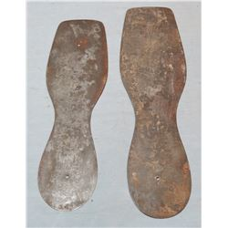 Shoe store display, metal sole guilds and 1861 U. S. steel shoe templates