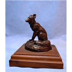"Scriver, Bob bronze, Red Fox, 1974, 215/250, 3"" h x 2 1/2"" and Rex's Gopher, 1974, 173/250, 3"" h x 3"